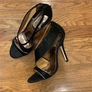 Badgley Mischka Black Satin / Silk Heels 9